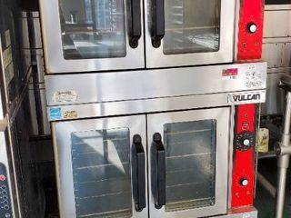 Vulcan Double Stack Ovens On Casters