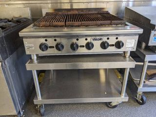 Vulcan Grill On Rolling Table