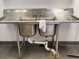 6ft Eagle 2 Bay Stainless Sink