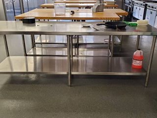 8ft Stainless Steel Prep Table