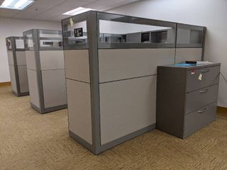 Three Cubicles With Contents