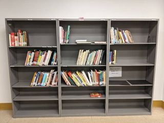 3  Bookshelves With Contents