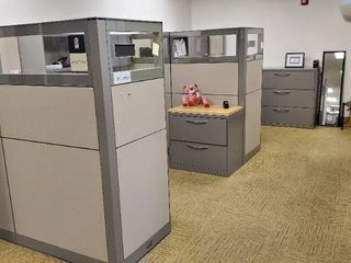 2  Cubicle Stations  With Computers  File Cabinets