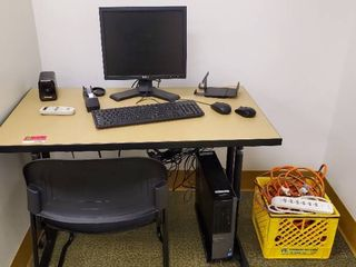 Dell Computer With Desk And Chair
