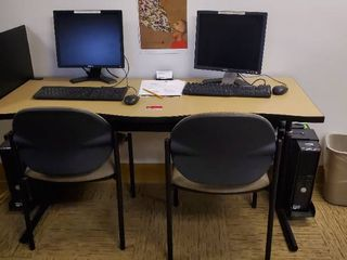 5ft Computer Table With 2 Computers