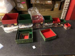Multi size Christmas boxes
