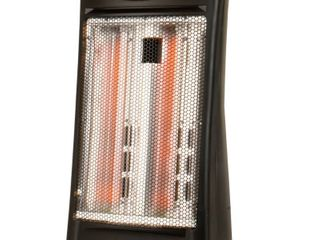 BlACK DECKER Infrared Quartz Tower Manual Control Indoor Heater   Black