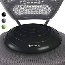 Gaiam Balance Disc Wobble Cushion Stability Core Trainer Black