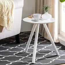 2l lifestyle 3 leg White End Table