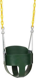 High Back Full Bucket Toddler Swing Set