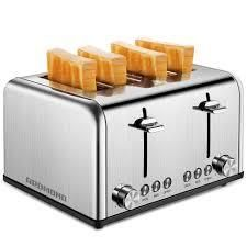Stainless Steel 4 Slice Toaster