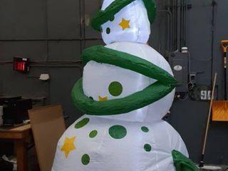 Inflatable lED Snowman Christmas Tree