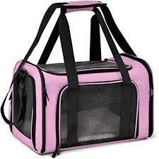 Pink Black Pet Carrier