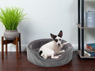 Plush Velvet Orthopedic Oval Pet Bed