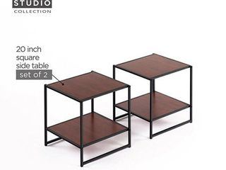Set of Two Side End Tables Night Stands