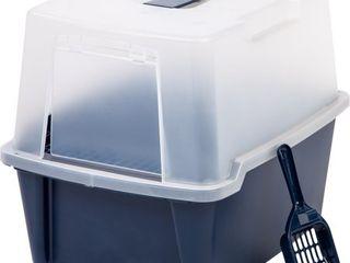 IRIS USA Hooded Cat litter Box