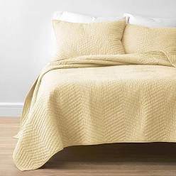 Cozy Collection Fashionable Solid Quilt Set   Twin