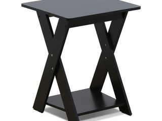Furinno Simplistic Criss Crossed End Table
