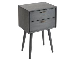 Silverwood Mid Century 2 Drawer Accent Stand