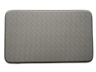 N A   Grey  Stephan Roberts Faux leather Anti fatigue Kitchen Mat  30 inches x 18 inches