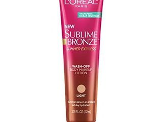 l Oreal Paris Sublime Bronze Summer Express Wash Off Body Makeup lotion light   3 78 fl oz