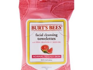 Burt s Bees Facial Cleansing Towelettes   Pink Grapefruit   10ct
