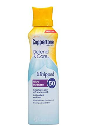 Coppertone Clearly Sheer Whipped Sunscreen 50Spf