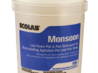 Ecolab Monsoon low Foam Pot and Pan Detergent 5 Gallon