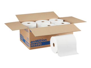 enmotion Hardwound Paper Towels 1 ply 6 Rolls Carton  89490  812839