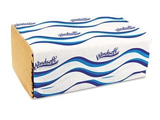 Windsoft Embossed Singlefold Towels  250 sheets  16 count