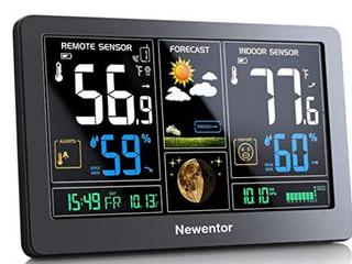 Newentor  Wireless Weather Station  Adjustable Backlight  FJ3378