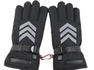 Wenjuda  Charging Heating Gloves With lithium Battery  Black  large