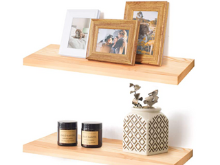 labcosi Beech Wood Floating Shelves Wall Mounted  1 Piece