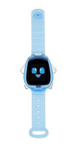 little Tikes Tobi Robot Smartwatch   Blue with Movable Arms and legs  Fun Expressions  Sound Effects  Play Games  Track Fitness and Steps  Built in Cameras for Photo and Video 512 MB   Kids Age 4
