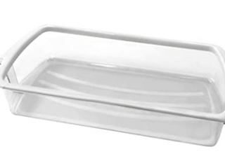 REPlACEMENT FOR WHIRPOOl ClEAR DOOR BIN WHITE BAND TOP