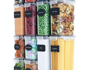 Chef s Path Food Storage Containers Set  14 Pieces  Free Spoon Set  Chalkboard labels and Marker