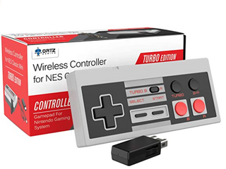 Ortz Gaming Wireless Controller For NES Classic Mini Turbo Edition