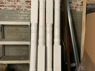 Set of 4   8ft PVC Pillars   Interior Exterior   White