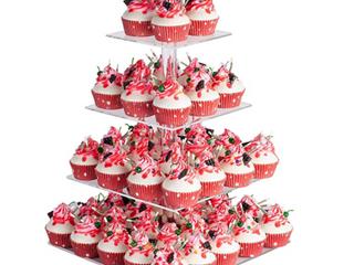 Yest Buy 4 Tier Arcylic Cupcake Stand  Premium Cupcake Holder