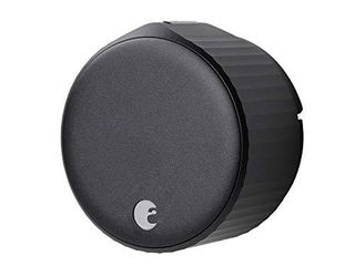 August Wi Fi   4th Generation  Smart lock Fits your existing deadbolt in minutes  Matte Black