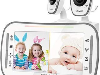 HD  Video Baby Monitor  AXVUE 720P 5  HD Display  IPS Screen  2 HD Cams  12 Hours Battery life  1000ft Range  2 Way Communication  Secure Privacy Wireless Technology