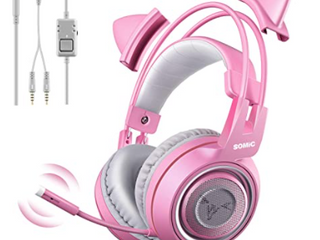 Somic G951 Pink Gaming Headset With Mic For Ps4 Xbox One Pc Mobile Phone