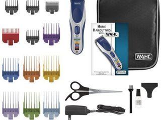 Wahl Color Pro 21 Piece Cordless Hair Clipper Set   Model  9649