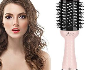 Hair Dryer Brush Aima Beauty One Step Hair Dryer and Styler Volumizer with Negative Ion for Reducing Frizz and Static  Pink