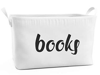 Fawn Hill Co  Rectangular Storage Box for Books   Cute Organizer Basket for Playroom  Closet  Kitchen  Classroom   Bedroom   Stylish Organization Bin Goes Great with Home Decor   large