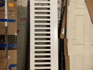 PVC Porch Clip on Railing   White   94long x 21 5 Tall