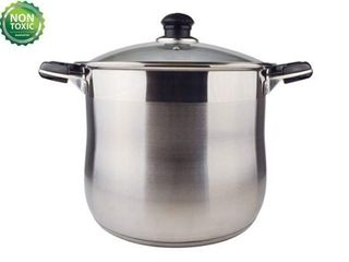 Null  20 Quart Commercial Grade Stainless Steel High Stockpot Non Toxic Cookware Dishwasher Safe