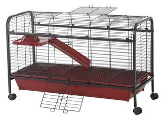 PawHut 42 inch Metal Wire Small Animal Pet Cage with Wheels  Retail 98 49