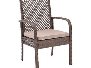 Tribeca Wicker Dining Chair In Driftwood  Set Of Four  Retail 347 49