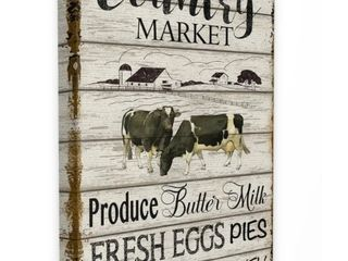 The Gray Barn Farmhouse Planked Country Market Sign Canvas Wall Art  Retail 99 99